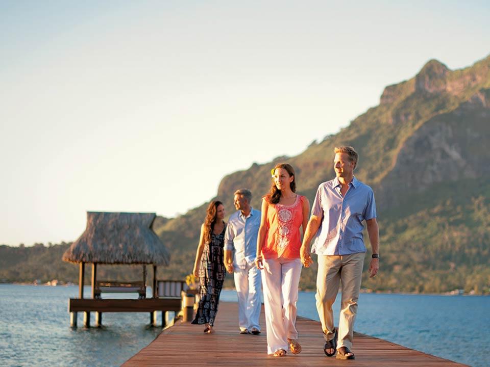 Access to the exclusive, private beach located on a motu off the coast of Bora Bora