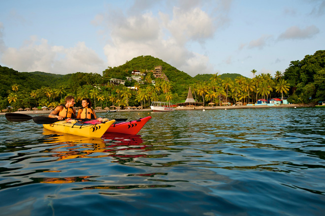 St. Lucia Luxury Resort Anse Chastanet - Kayaking