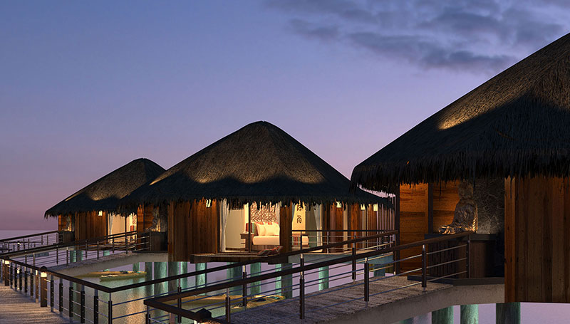 Palafitos - overwater bungalows in Mexico