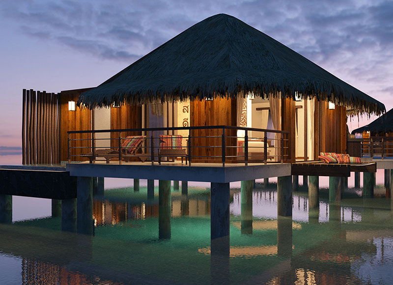 Experience the luxury and elegance of overwater bungalows in Mexico!
