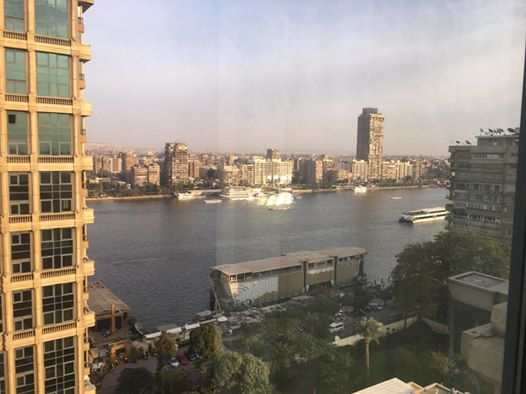 View from my room at the Four Seasons Cairo