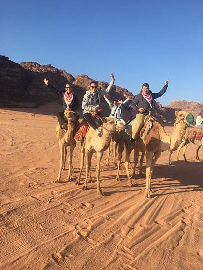 Riding Camels in Petra, Jordan