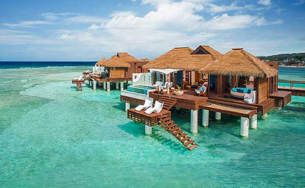 Over Water Villas - Sandals Royal Caribbean