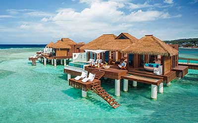 Over-Water Villas at Sandals Royal Caribbean Montego Bay, Jamaica!