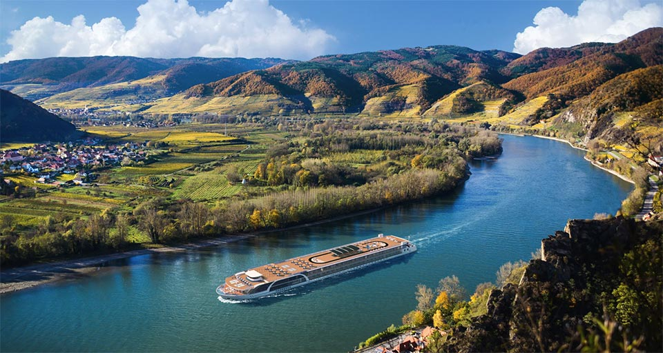 Enjoy stunning panoramic views from your balcony on your European river cruise