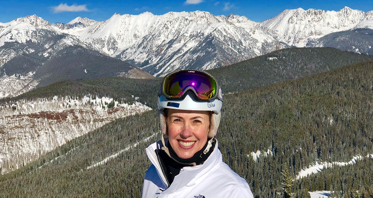 Margi on vacation at a Vail Ski Resort