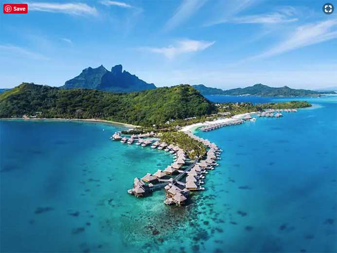 Conrad Bora Bora Nui is located on the private island, Motu To'opua.