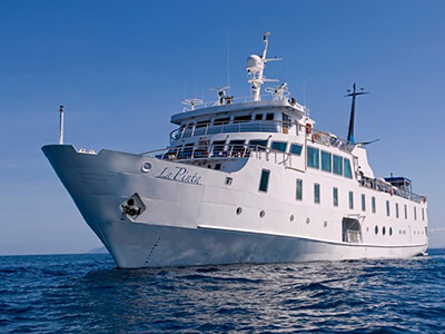 The LaPinta that explores The Galapagos Islands holds just 48 guests.