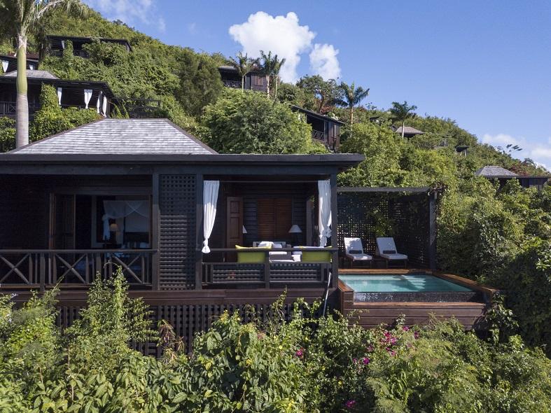 Hillside pool suite at Hermitage Bay, Antigua