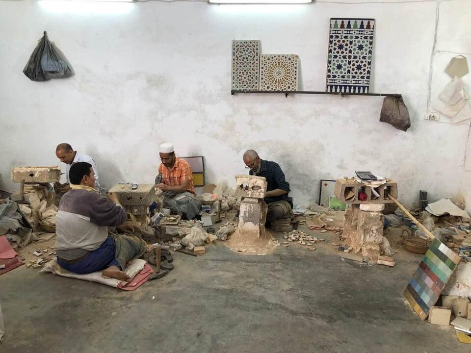 Craftsmen creating beautiful woks of art in Fez, Morocco