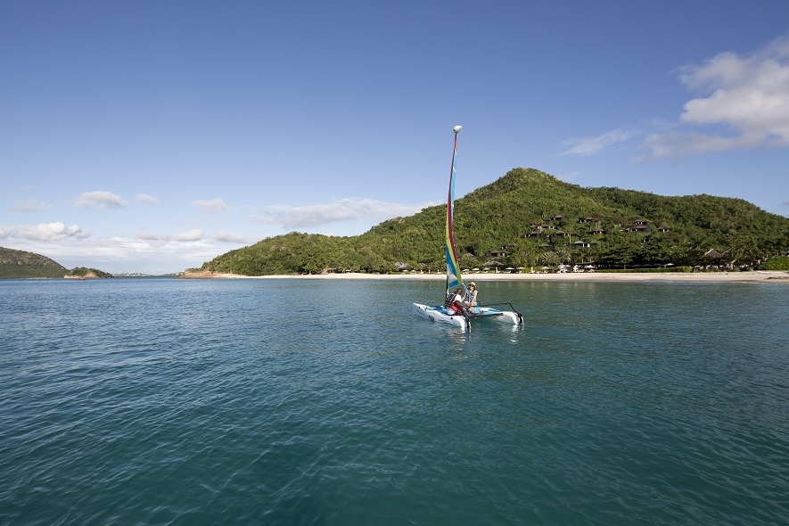 Sailing at Hermitage Bay Resort, Antigua