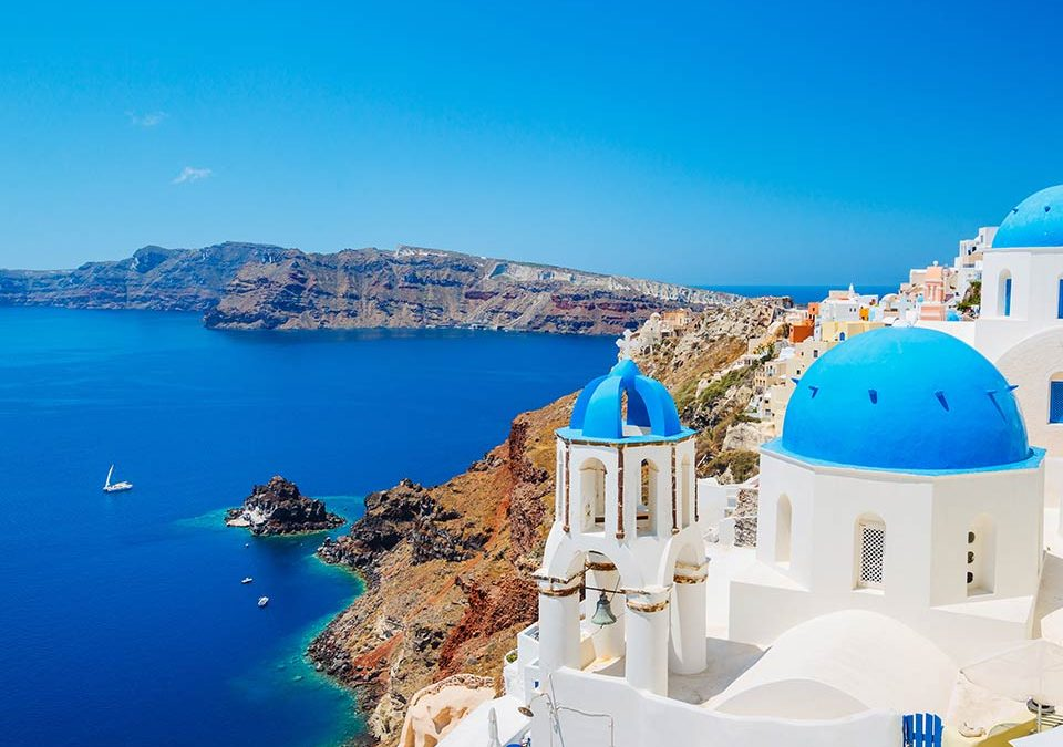 Vacation in Santorini Greece