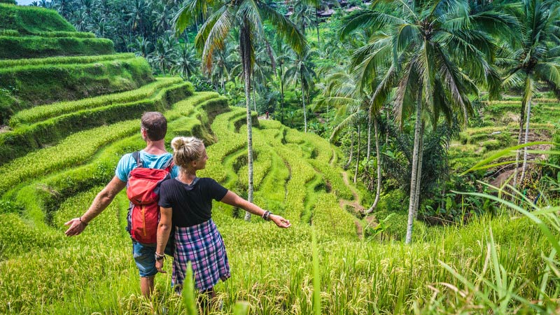 The Tegalalang Rice Terraces are one of the most beautiful places to visit in Bali.